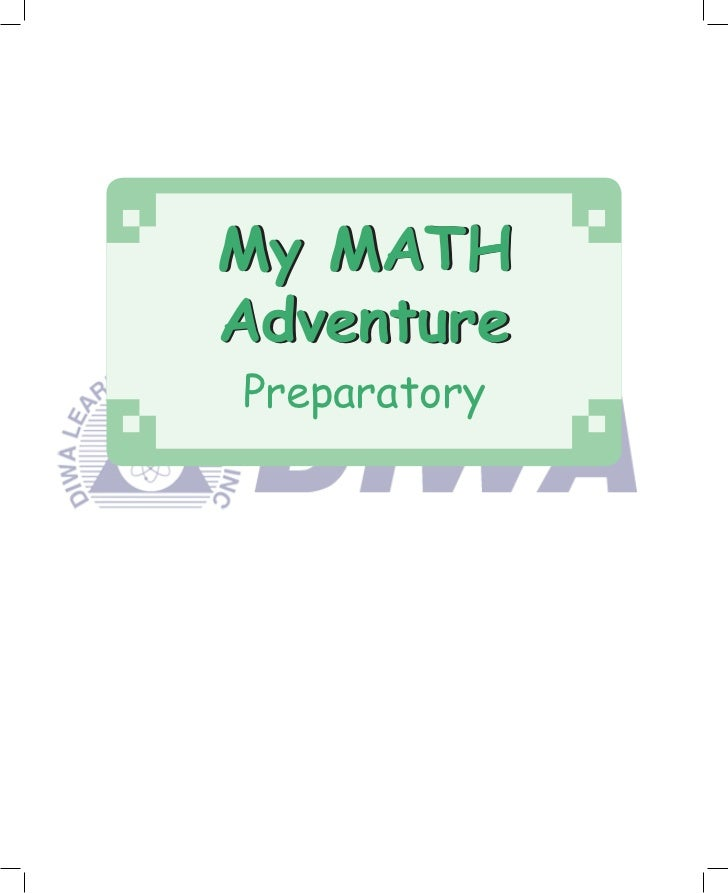 My Math Adventure - Preparatory