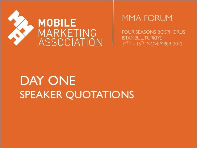 Highlights from day 1 of MMA Forum Istanbul 2012