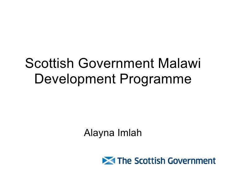 Scottish Government Malawi Development Programme Alayna Imlah