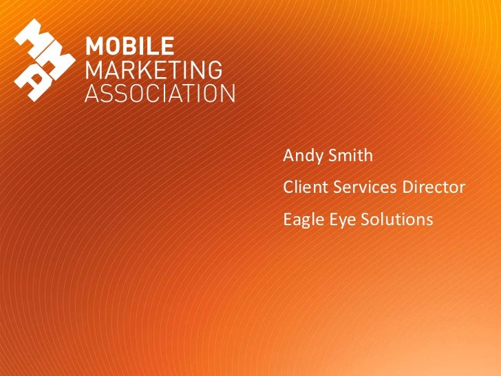 Mobile coupons presentation at MMA Forum London