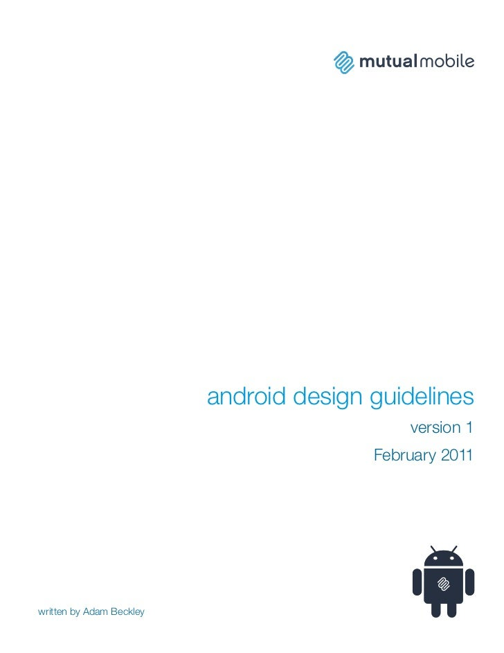 android design guidelines                                             version 1                                         Fe...