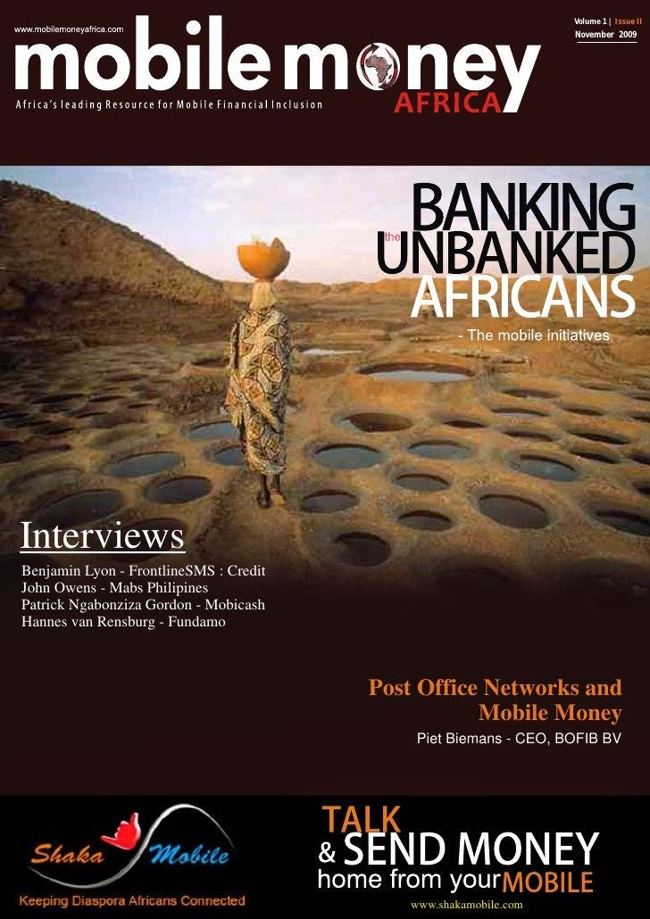 Volume 1 | Issue II                                                                  November 2009     Interviews Benjamin...