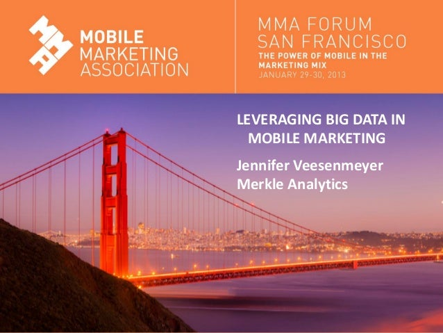 Big Data and Mobile Analytics - MMA SF Jan13