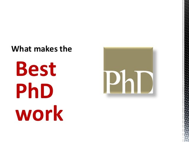 what makes a good phd thesis