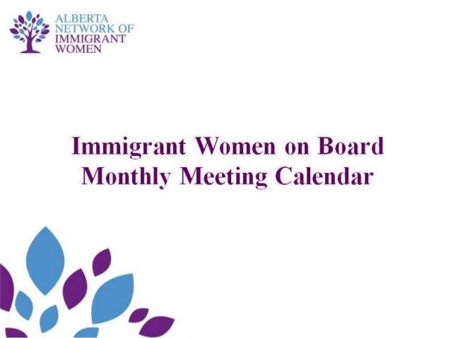 Monthly Mentoring Calendar