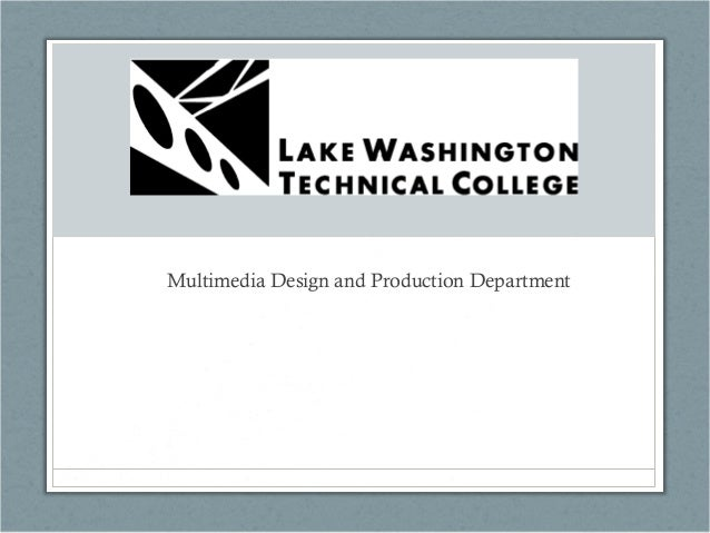 Multimedia Design and Production Department