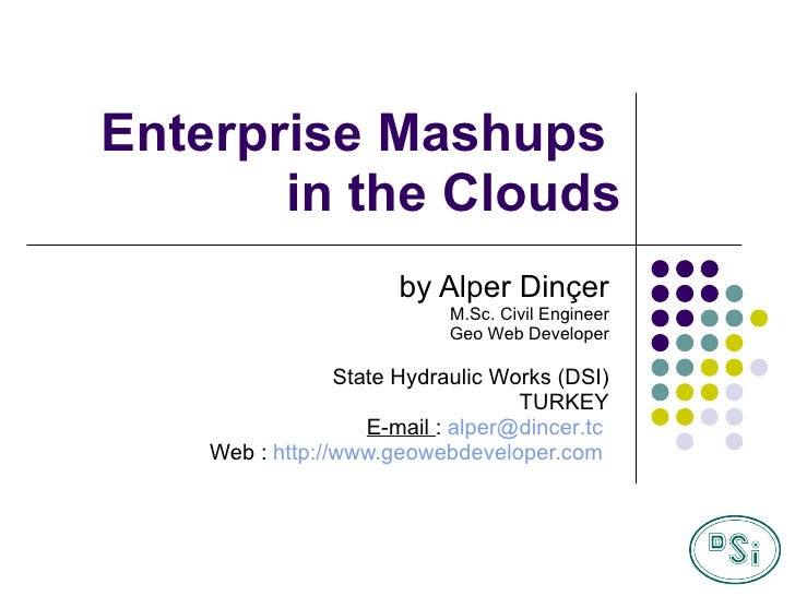 Map Middle East 2009 - Enterprise Mashups in the Clouds