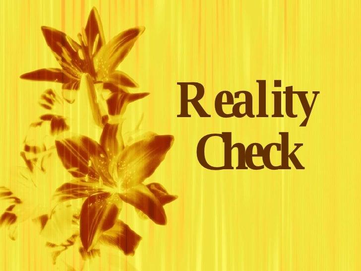 0745619 Reality Check