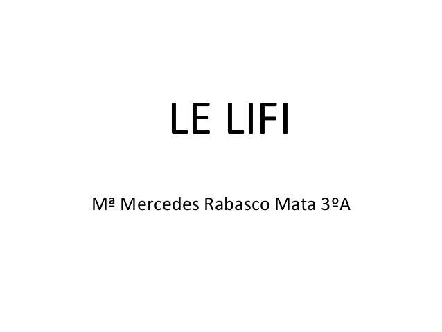 LE LIFIMª Mercedes Rabasco Mata 3ºA