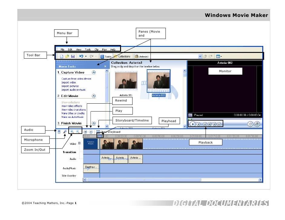 Movie Maker Help Sheet