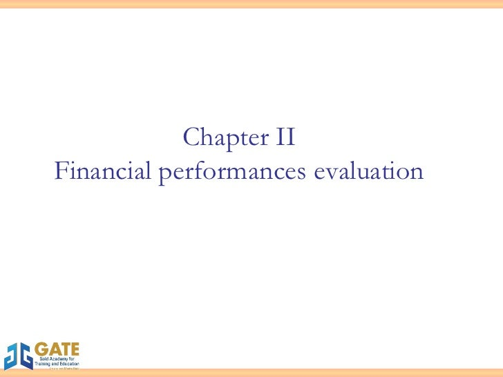 Chapter II Financial performances evaluation