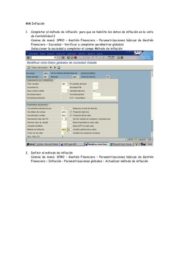 MM Inflación1.   Completar el método de inflación para que se habilite los datos de inflación en la vista     de Contabili...