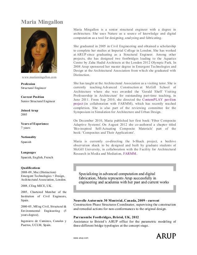 sample resume of civil engineer