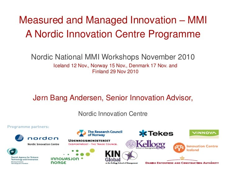 Business Model Innovation,  the Nordic innovation programme Measured and Managed Innovation - Jorn Bang Andersen
