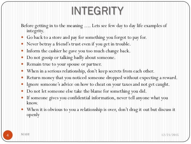 integrity and values 7 core values statements that inspire with great courage, integrity and love—we embrace our responsibility to co-create a world where each of us.