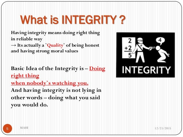 What Integrity Means To Me Essay