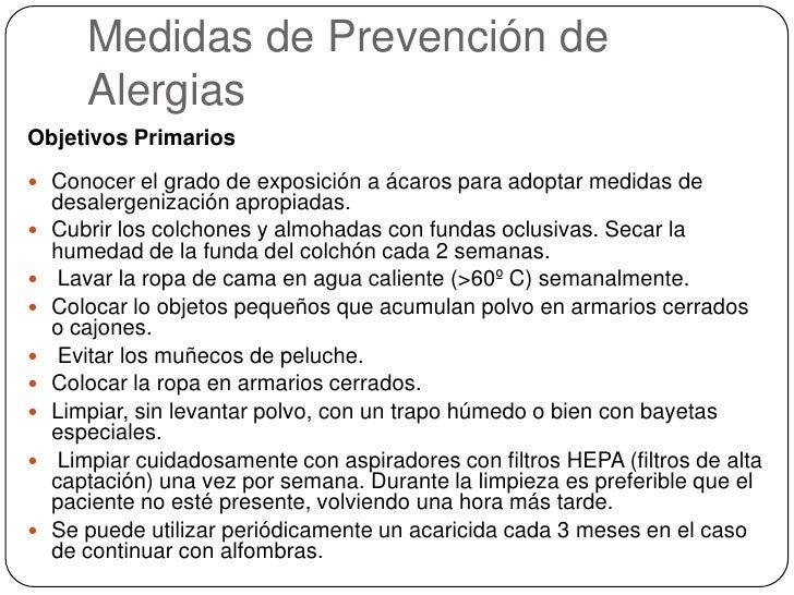Acaros del polvo y alergias - Acaros del colchon ...