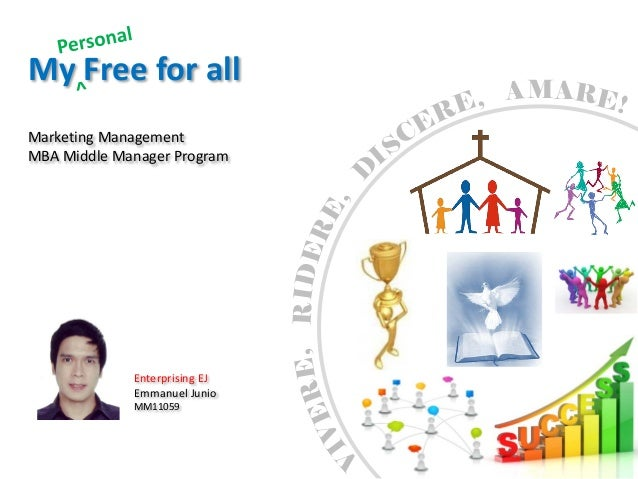 My Free for all                                   MAMarketing ManagementMBA Middle Manager Program                        ...