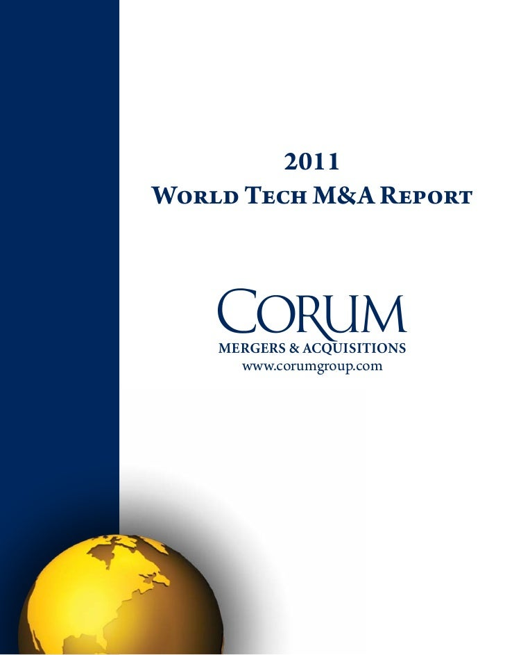 2011World Tech M&A Report     www.corumgroup.com