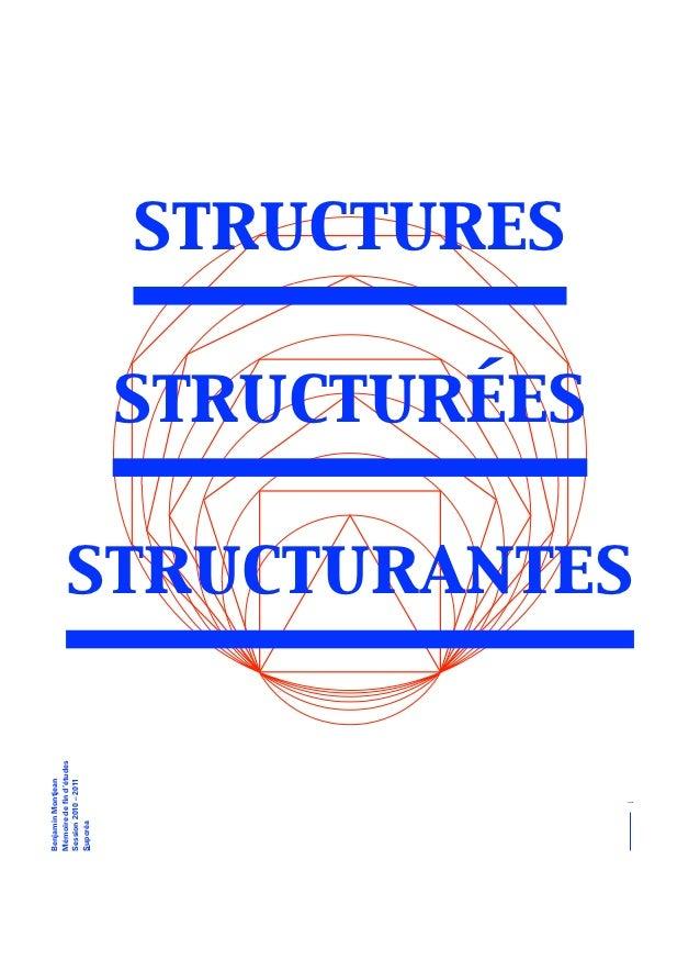 Stuctures Structurées Structurantes