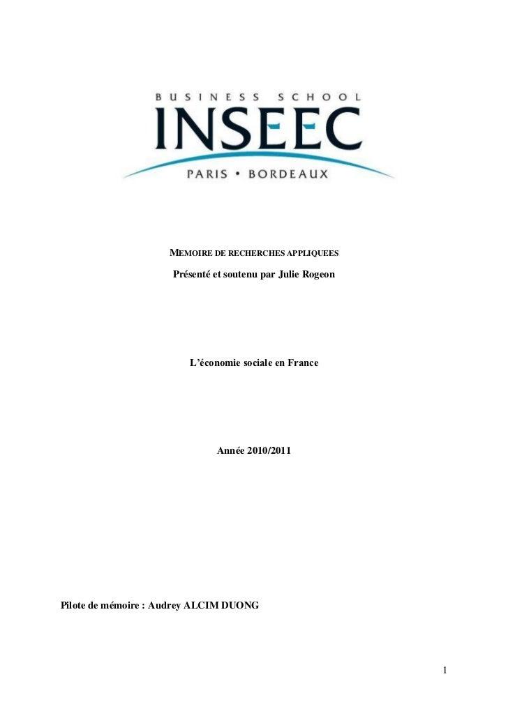 Mémoire de recherche economie sociale julie rogeon_juin 2011_vf