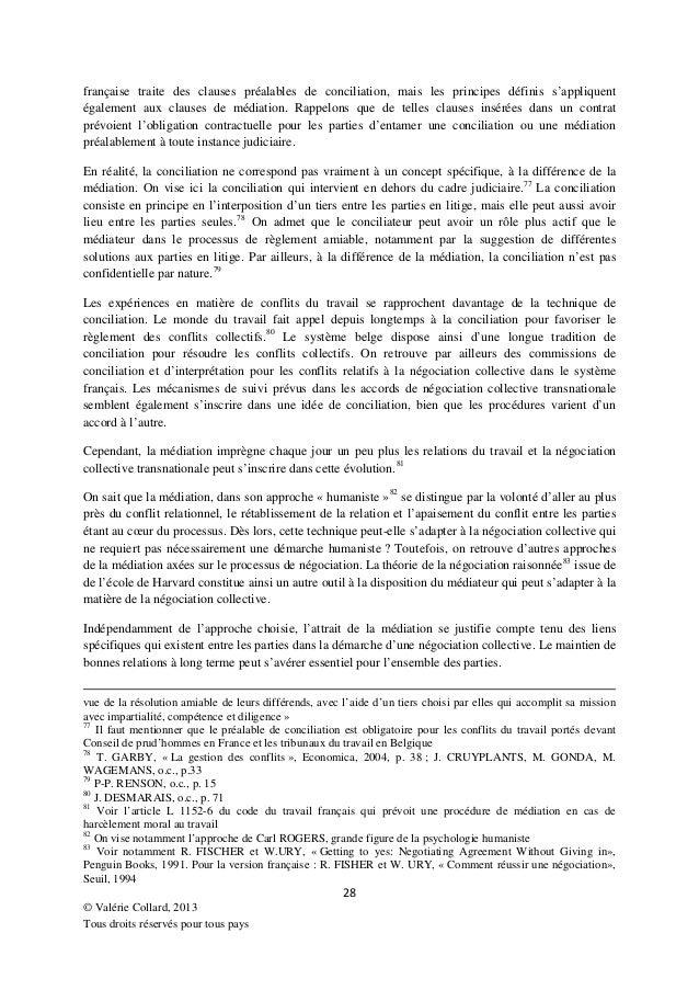 La r solution des conflits en mati re de n gociation collective trans - Difference entre mediation et conciliation ...
