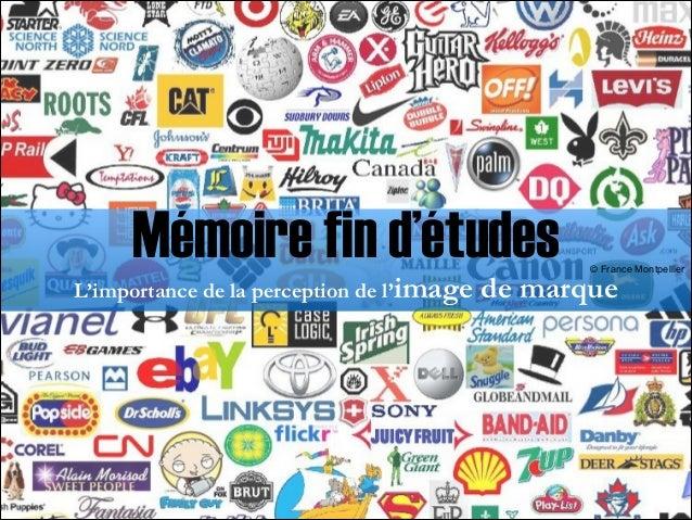 Mémoire fin d'études L'importance de la perception de l'image  © France Montpellier   de marque