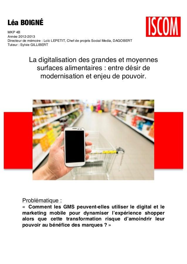 Léa BOIGNÉ MKP 4B Année 2012-2013 Directeur de mémoire : Loïc LEPETIT, Chef de projets Social Media, DAGOBERT Tuteur : Syl...