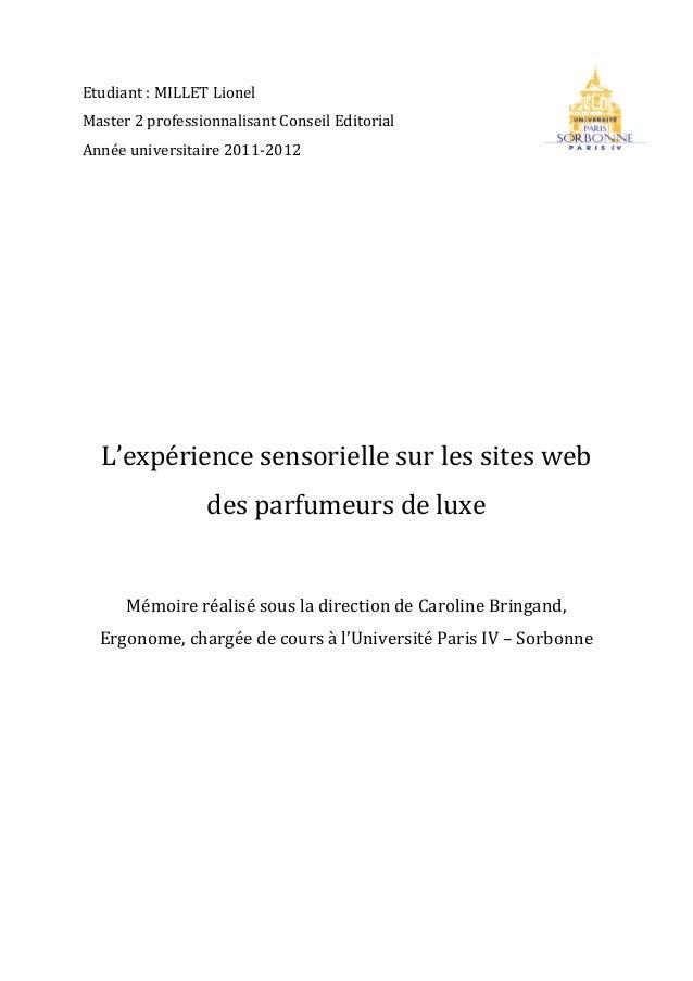 memoire luxe pdf