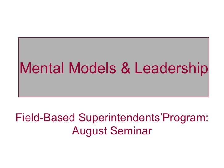 Mental Models & Leadership