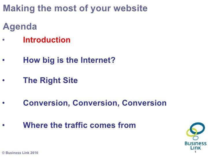 <ul><li>Introduction </li></ul><ul><li>How big is the Internet?  </li></ul><ul><li>The Right Site </li></ul><ul><li>Conver...