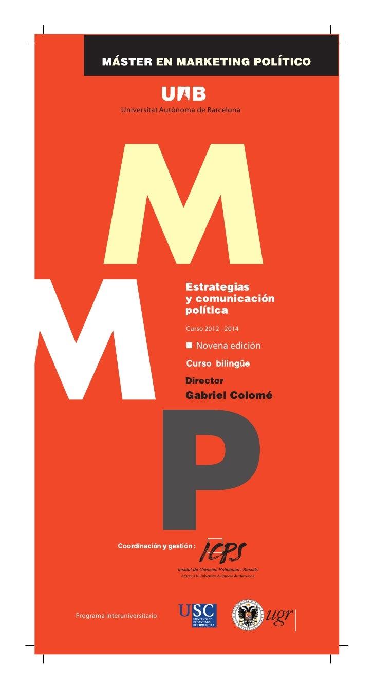 Universitat Autònoma de Barcelona                                Curso 2012 - 2014                                   Noven...