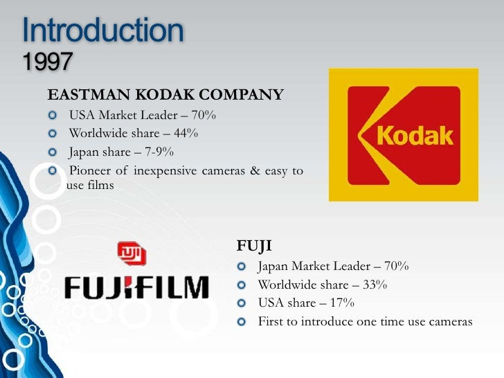 Kodak vs fuji case study