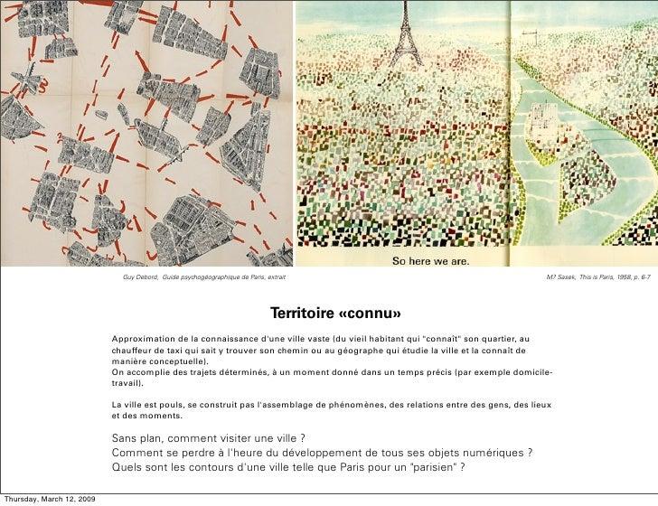 Guy Debord, Guide psychogéographique de Paris, extrait                                              M? Sasek, This is Pari...