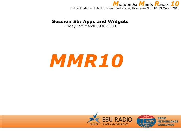 Session 5b: Matthew Trustram, EBU Radio
