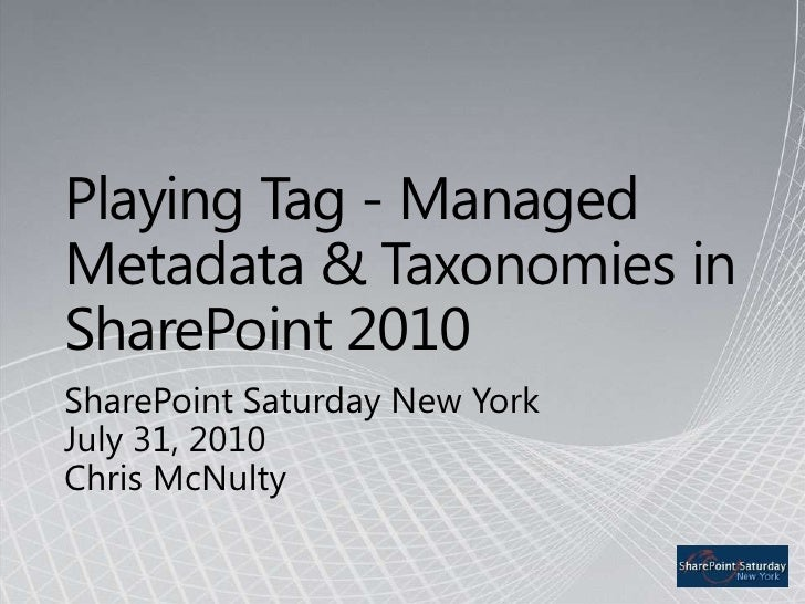 Chris McNulty - Managed Metadata and Taxonomies
