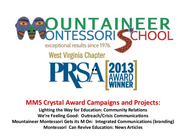 MMS Crystal Award Campaigns and Projects:Lighting the Way for Education: Community RelationsWe're Feeling Good: Outreach/C...