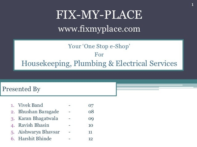 Development of e-commerce business for e-services for housekeeping, plumbing repairs, electrical work