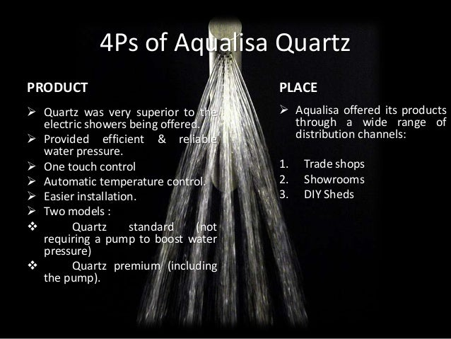 aqualisa quartz simply better shower case study Introductionaqualisa quartz: 'simply a better shower' - a significantly innovative product developed by aqualisa, in terms of both cost and quality, has been facing.
