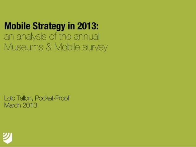 Museums & Mobile Survey 2013