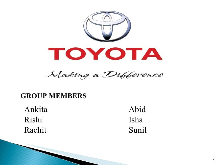 competitive priorities of toyota marketing essay What's more, the changes had occurred during a period of time when many of  toyota's competitors, including ford, chevrolet and hyundai,.