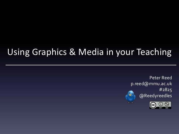 Using Graphics & Media in your Teaching                                    Peter Reed                             p.reed@m...