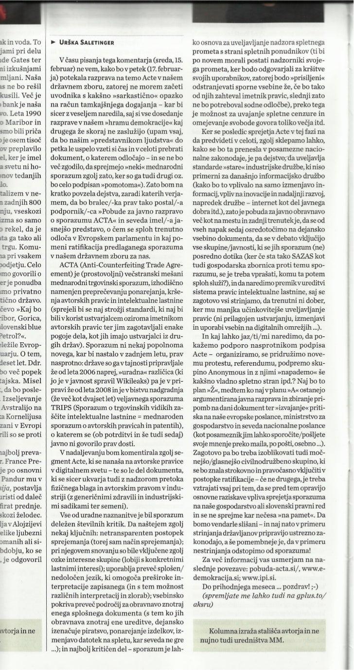 ACTA… ne, hvala! _Marketing Magazin_mar2012_st.370_str.16