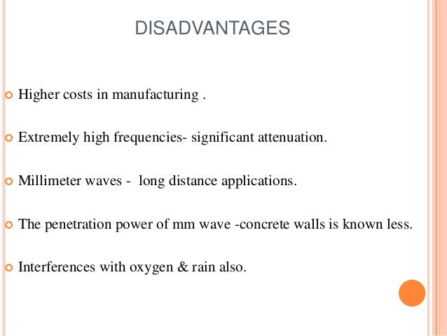 Millimeter Wave Mobile Communications For 5g Cellular