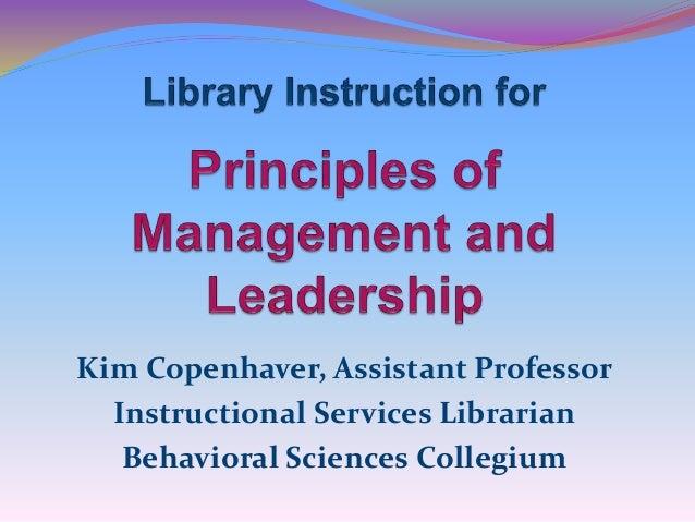 Kim Copenhaver, Assistant Professor Instructional Services Librarian Behavioral Sciences Collegium
