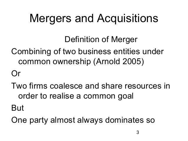 merger nd acquisition conclusion Mergers & acquisitions for high technology companies conclusion 2 mergers and acquisitions fenwick & west.