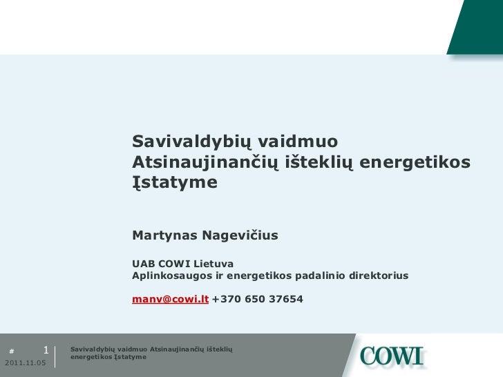 Tarybos seminaras. Savivaldybių vaidmuo Atsinaujinančių išteklių energetikos Įstatyme