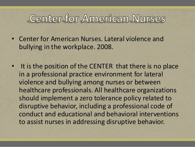 how to stop lateral violence in nursing