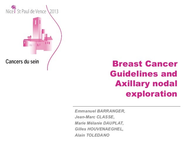 nice guidelines breast
