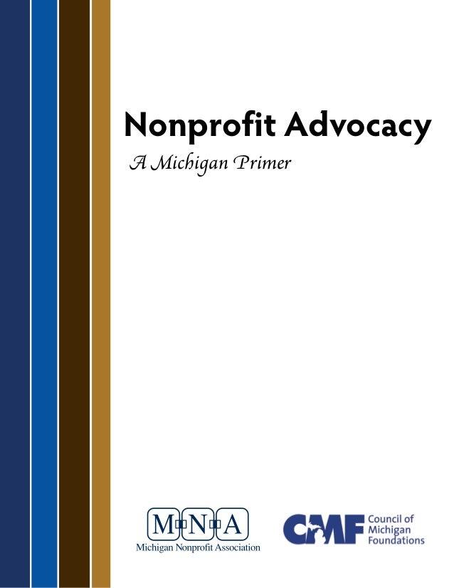 Nonprofit Advocacy A Michigan Primer